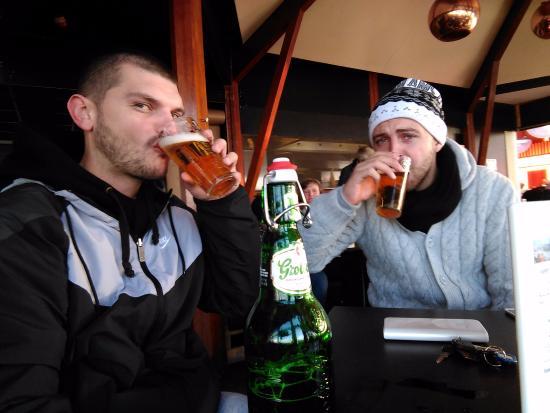 Overveen, Países Baixos: Beer break