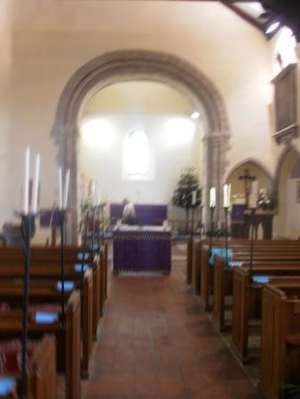 Dymchurch, UK : Church interior
