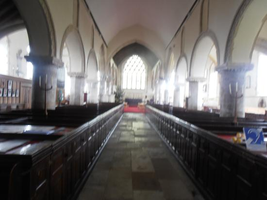 Lydd, UK: Church interior