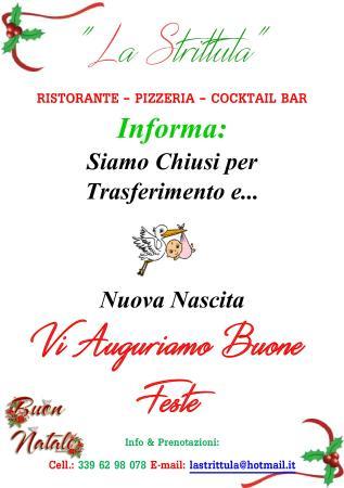 Ristorante Pizzeria La Strittula: Buone Feste