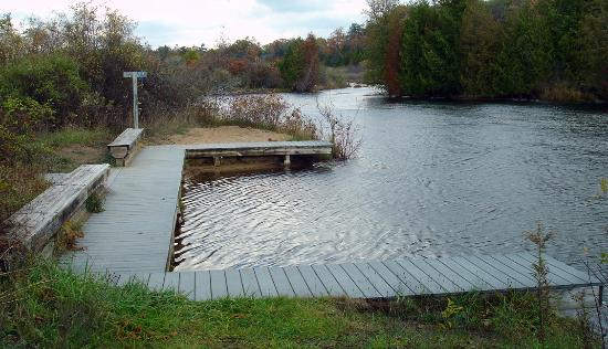 Grand Traverse Natural Education Reserve: 1 of several Boardman River launches within the GTNER