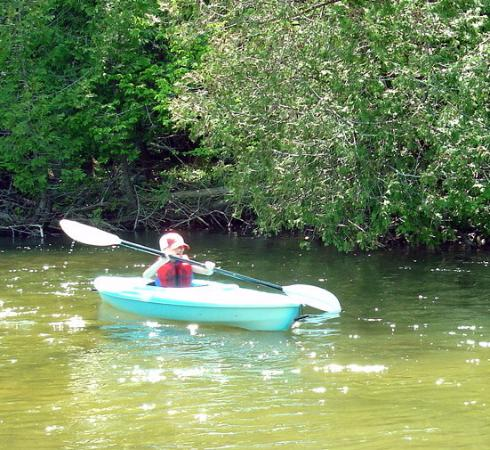 Grand Traverse Natural Education Reserve: Parts of the Boardman are gentle enough for kid kayakers