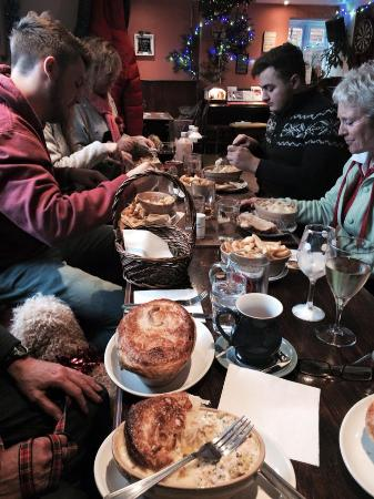 Frampton on Severn, UK: Xmas get together at The Three Horseshoes