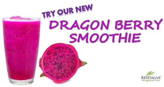 Revitalive Cafe: Dragon Fruit Smoothie