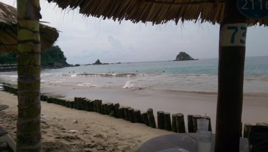 Pacifica Grand: beach from sister resort in Ixtapa