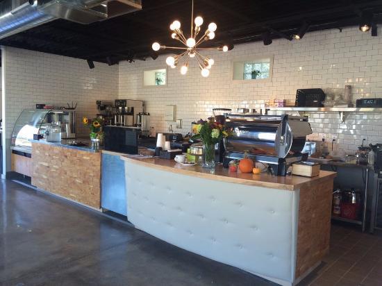 Counter at Carma Coffee