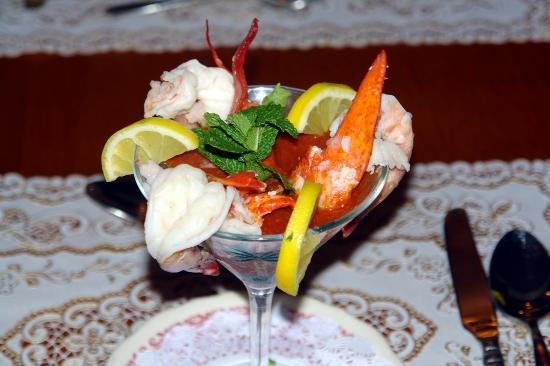 De Leon Springs, ฟลอริด้า: Shrimp & lobster Parfait