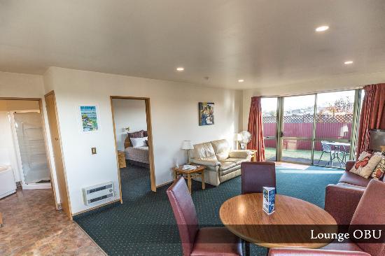 Timaru, Selandia Baru: One Bedroom Unit - Lounge