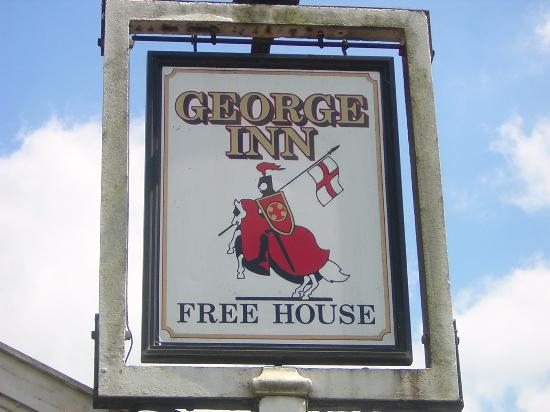 Croscombe, UK: Sign of the times at The George Inn, Crocsombe, near Wells