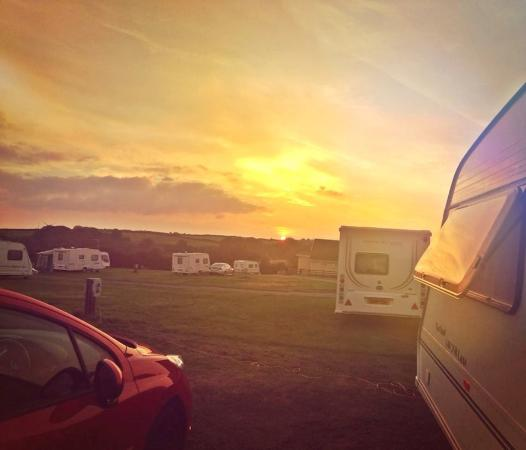 Combe Martin, UK: Lovely sunset from our van