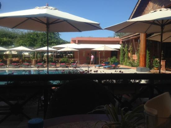 Bagan Lodge: View from breakfast/dining area.