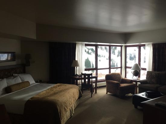 Alta's Rustler Lodge: Room with an incredible view!