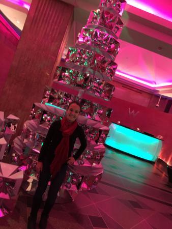 Hotel lobby Christmas treePicture of W MinneapolisThe Foshay