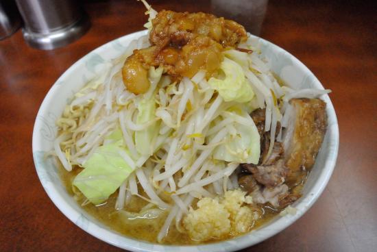 Ramenjiro: 小ラーメン、ニンニク、アブラ