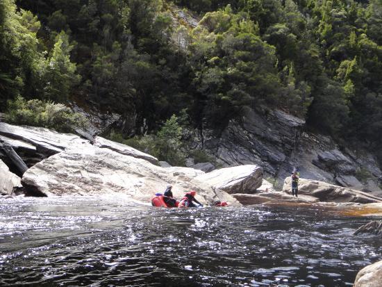 Tasmania, Australia: Heading down the rapid