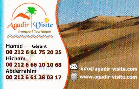 Agadir Visite Notre Carte De