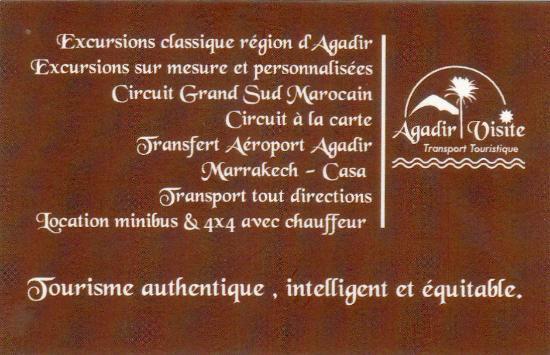 Agadir Visite Notre Carte De Rtro