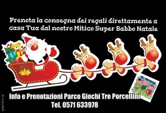 Parco Giochi Tre Porcellini: Babbo Natale a casa tua..