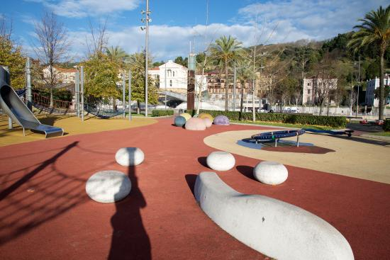 gran hotel domine bilbao playground across the street from the hotel has a foam