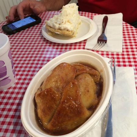 Stockholm, WI: Apple dumpling and coconut cream pie