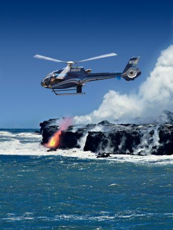 蓝色夏威夷直升飞机
