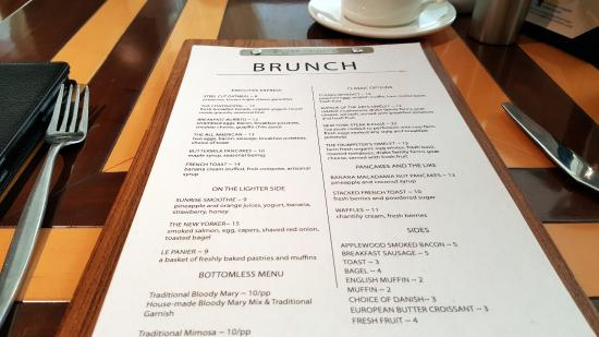 Silver Trumpet Restaurant & Bar : Brunch Menu