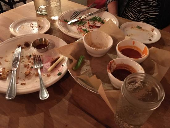WaterCourse: This is how you know the food was good: EMPTY PLATES