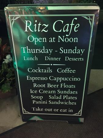 Torrington, CT: Ritz Cafe