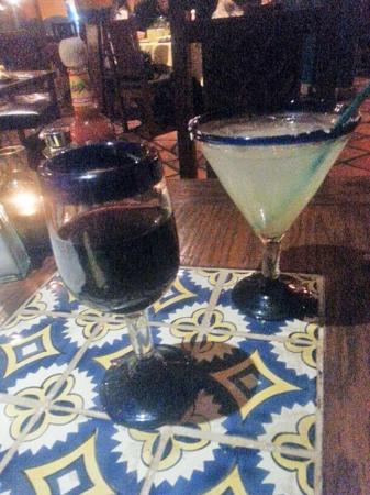 Adobe Grill @ La Quinta Resort: Margarita and a nice merlot...