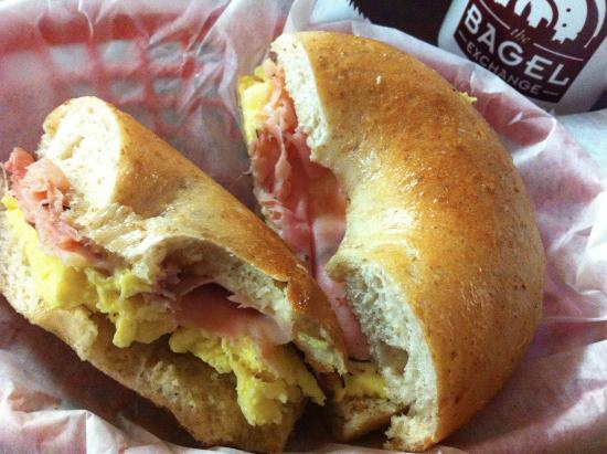 The Bagel Exchange: A delecious breakfast sandwhich from a visit some time ago.