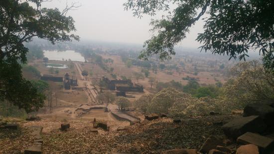 Vat Phou Temple: pemandangan dari atas bukit wat