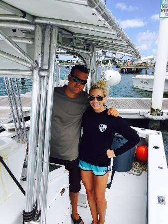 Jupiter, Floryda: with Captain Bryce before a dive