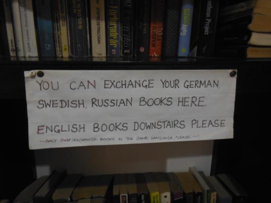 Trafalgar Cottages: mini-library