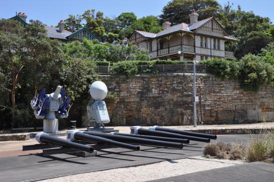 Royal Australian Navy Heritage Centre: gun barrels from different ships