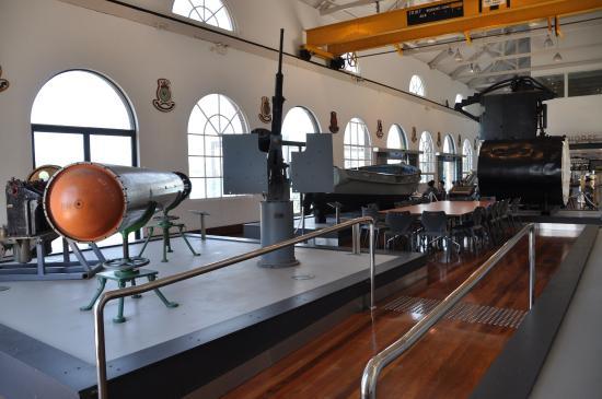 Royal Australian Navy Heritage Centre: Torpedo, gun, life boat & brdige of Japanese midget submarine