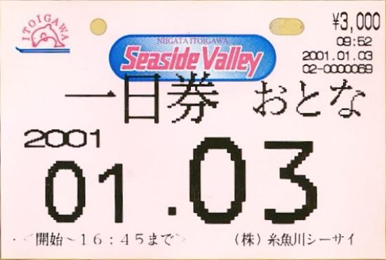 Itoigawa Seaside Ski Resort: リフト券