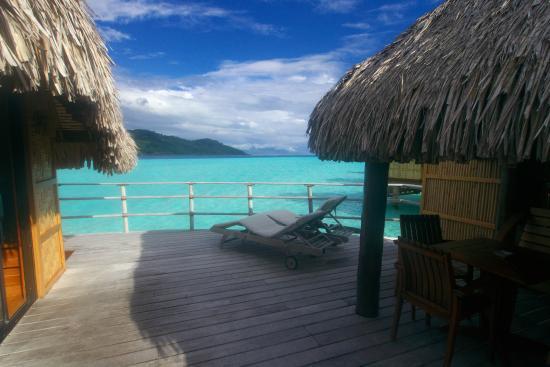 Le Taha'a Island Resort & Spa: Terrasse