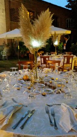 Calliano, Italie : Table decorations by me with help of the owner (Mario?)