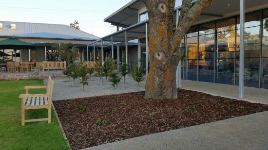 New Gisborne, Australia: looking east towards the outside tables