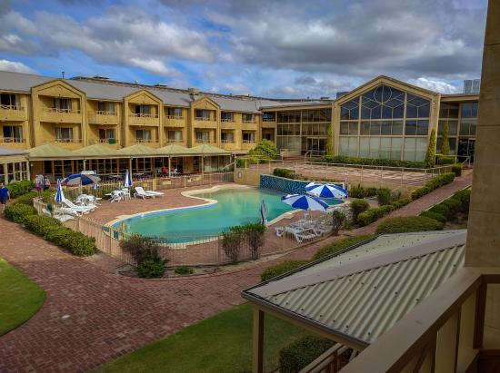 Pool area picture of abbey beach resort busselton for Pool show perth 2015