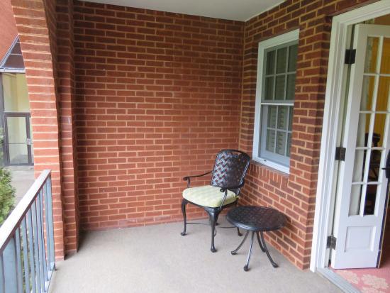 "Hot Springs, VA: Balcony of ""Deluxe View"" Room"