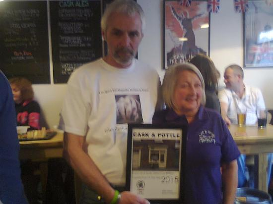 Tutbury, UK: Cask +Pottle CAMRA AWARD WINNERS  Country Pub of the Year