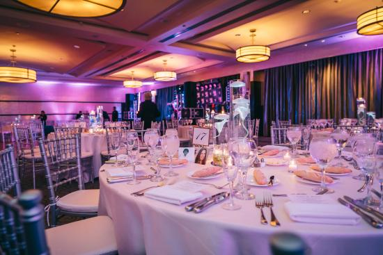 Sofitel Philadelphia Hotel Wedding Set Up Lighting And Menus By Staff
