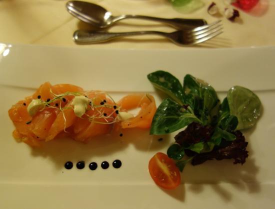 Hotel Alpenruh Restaurant: smoked salmon