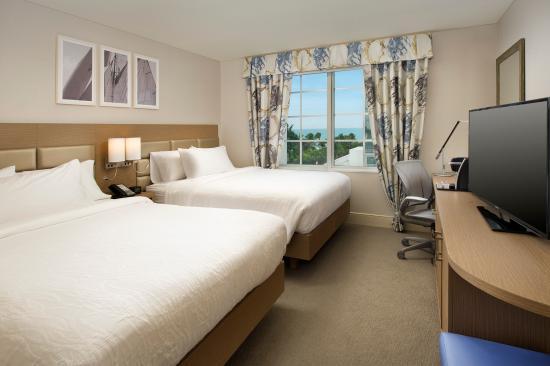 Hilton Garden Inn Miami South Beach: Oceanview Guestroom Double Bed, Free  Wifi