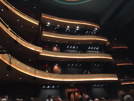 Benjamin & Marian Schuster Performing Arts Center: A variety of seating levels is available.