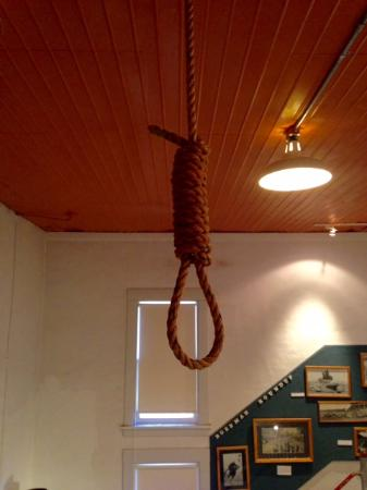 Gallatin History Museum in Bozeman - noose (one man was hanged here!)