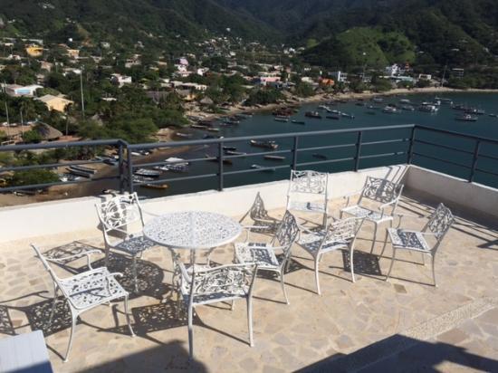 Hotel Bahia Taganga: Dachterrasse