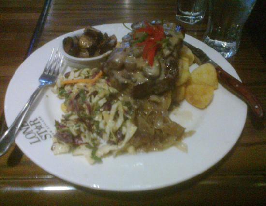 Timaru, Nueva Zelanda: Rockin Ribeye steak