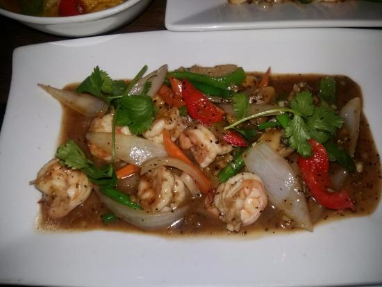 Garlic & Pepper Prawns - Picture of Sabai Sabai Thai Restaurant & Win...